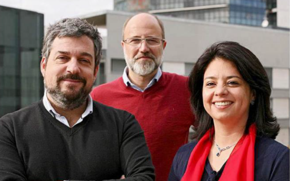 Mafe González de MOCA, Diego Fernández y Jordi Urbea de Ogilvy